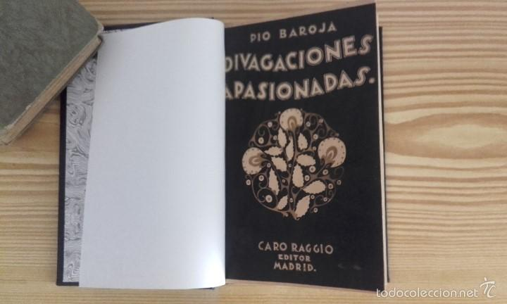 PÍO BAROJA - DIVAGACIONES APASIONADAS (1924) [1ª EDICIÓN] (Libros antiguos (hasta 1936), raros y curiosos - Literatura - Ensayo)