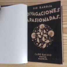 Libros antiguos: PÍO BAROJA - DIVAGACIONES APASIONADAS (1924) [1ª EDICIÓN]. Lote 60694695