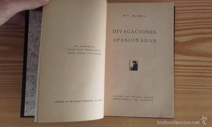 Libros antiguos: PÍO BAROJA - DIVAGACIONES APASIONADAS (1924) [1ª EDICIÓN] - Foto 6 - 60694695