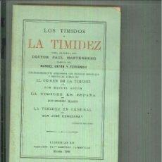 Libros antiguos: LOS TÍMIDOS Y LA TIMIDEZ. DR. PAUL HARTENBERG. Lote 61742512