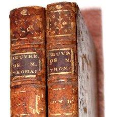 Libros antiguos: OEUVRES DE M. THOMAS DE L'ADADEMIE FRANÇOISE 1773. TOMOS 2 Y 4 EN FRANCÉS. Lote 65978802