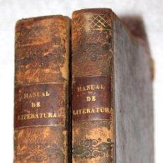 Libros antiguos: 2 VOL. 2 Y 3 MANUAL DE LITERATURA. RESUMEN HISTÓRICO DE LA LITERATURA ESPAÑOLA 1844 A. G. DE ZÁRATE. Lote 66516114
