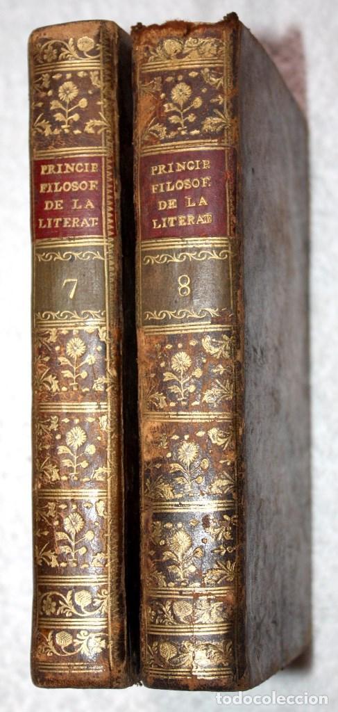 2 VOL. 7 Y 8 PRINCIPIOS FILOSOFICOS DE LA LITERATURA, 1803, BATTEUX, AGUSTIN GARCIA DE ARRIETA (Libros antiguos (hasta 1936), raros y curiosos - Literatura - Ensayo)