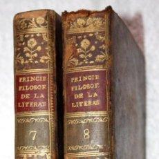 Libros antiguos: 2 VOL. 7 Y 8 PRINCIPIOS FILOSOFICOS DE LA LITERATURA, 1803, BATTEUX, AGUSTIN GARCIA DE ARRIETA. Lote 66516550
