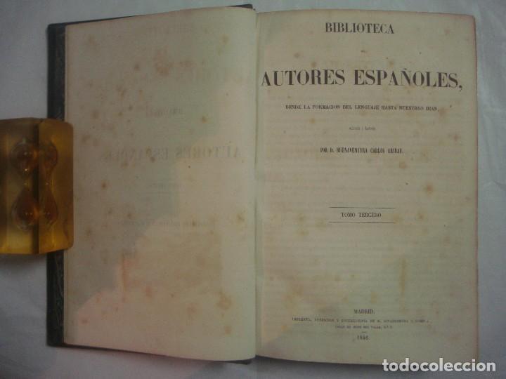 Libros antiguos: ARIBAU. LIBRO ÚNICO Y COMPLETO DE NOVELISTAS ANTERIORES A CERVANTES. 1846.FOLIO - Foto 4 - 66789394