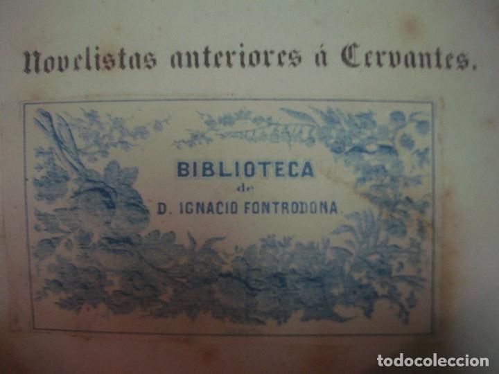 Libros antiguos: ARIBAU. LIBRO ÚNICO Y COMPLETO DE NOVELISTAS ANTERIORES A CERVANTES. 1846.FOLIO - Foto 5 - 66789394
