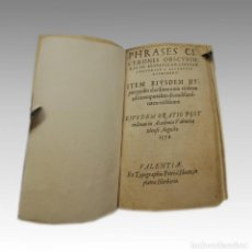 Libros antiguos: PHRASES CICERONIS OBSCURIORES (1573). Lote 54240662