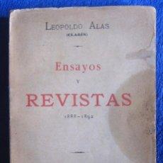 Libros antiguos: LEOPOLDO ALAS CLARÍN. ENSAYOS Y REVISTAS. 1892. 1ª EDICIÓN.. Lote 71464511
