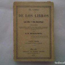 Libros antiguos: RARO LIBRO MINATURA: EL LIBRO DE LOS LIBROS O LAS MIL Y UNA MAXIMAS. 1857.. Lote 86948188