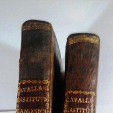 Libros antiguos: PAR DE ANTIGUOS LIBROS INSTITUTIONIS JURI CANONICI EN TRES PARTES SEXTO Y CUARTO TOMO. Lote 87893456