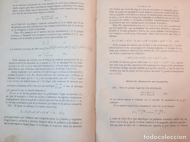 Libros antiguos: Lecciones de algebra Alfredo Sanchez Benito madrid 1898 tomo I 5º ed. buen estado - Foto 4 - 90063628