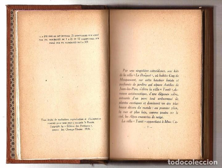 Libros antiguos: LETTRES INÉDITES DE MAUPASSANT À FLAUBERT. PUBLIÉES PAR PIERRE BOREL. ÉDITIONS DES PORTIQUES, 1929 - Foto 2 - 92826020
