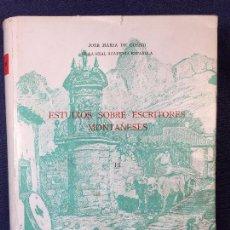 Libros antiguos: ESTUDIOS SOBRE ESCRITORES MONTAÑESES TOMO III JOSÉ MARÍA COSSÍO SANTANDER 1973 24,5X19 CMS. Lote 94119400