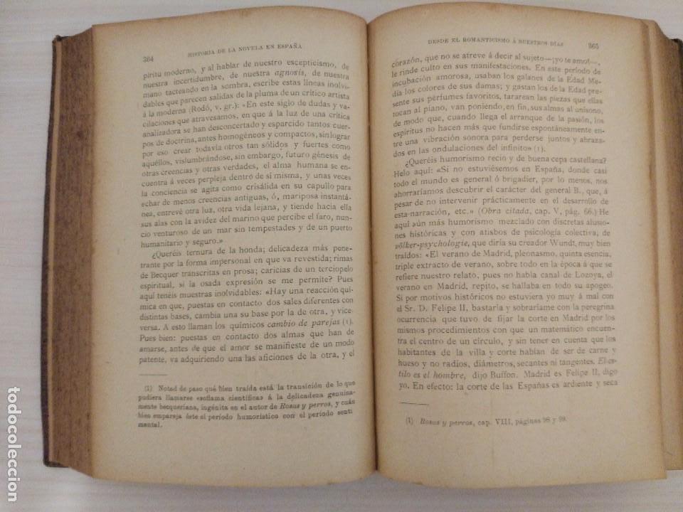 Libros antiguos: Historia de la Novela en España desde el Romanticismo a nuestros días. Andrés González-Blanco (1909) - Foto 4 - 95434767