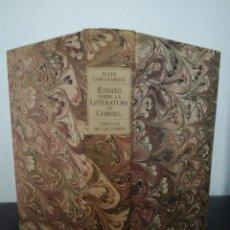 Libros antiguos: JULIO CARO BAROJA - ENSAYO SOBRE LA LITERATURA DE CORDEL - CÍRCULO, 1988 - BUEN ESTADO. Lote 98628367