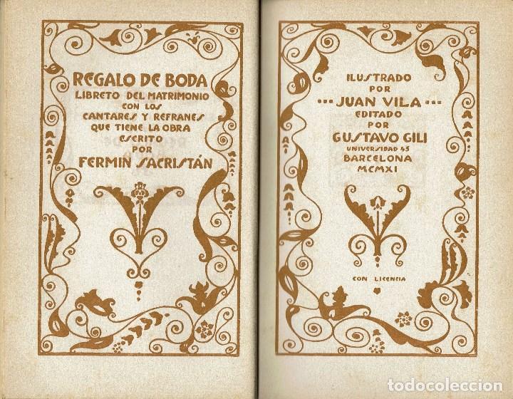 Libros antiguos: REGALO DE BODA, POR FERMÍN SACRISTÁN. AÑO 1911 (11.1) - Foto 4 - 99443171