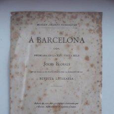 Libros antiguos: ODA ORIGINAL DE MOSSEN JACINTO VERDAGUER - SIGLO XIX. Lote 102445971