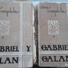Libros antiguos: OBRAS COMPLETAS DE GABRIEL Y GALAN. TIP. JACINTO GONZALEZ. . Lote 103257723