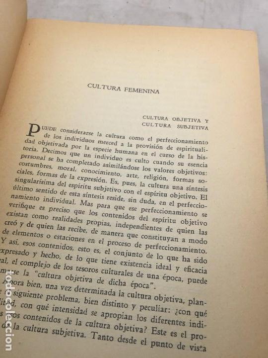 Libros antiguos: Cultura Femenina y Otros ensayos Jorge Simmel Revista occidente 1934 coquetería moda - Foto 4 - 108427227