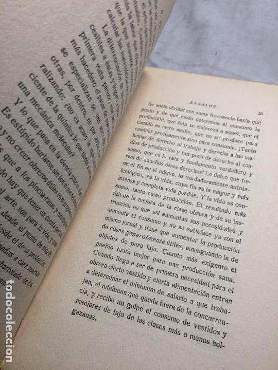 Libros antiguos: Miguel de Unamuno Ensayos tomo III residencia de estudiantes buen estado completo intonso - Foto 5 - 109505607