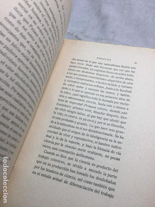 Libros antiguos: Miguel de Unamuno Ensayos tomo III residencia de estudiantes buen estado completo intonso - Foto 6 - 109505607