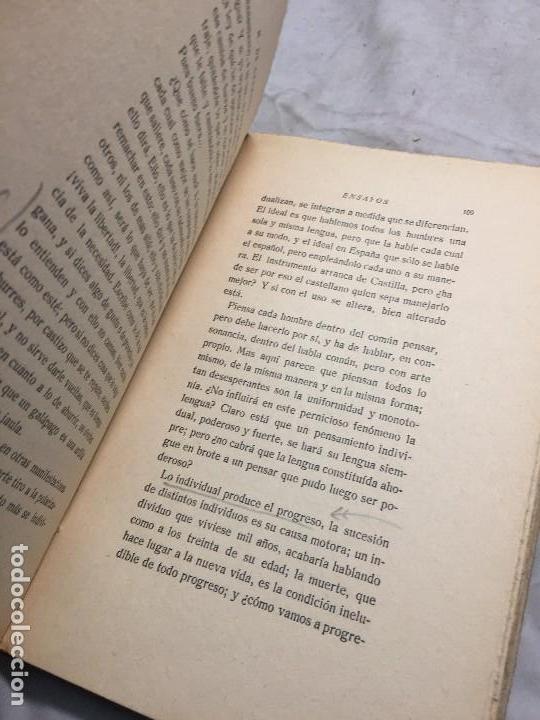 Libros antiguos: Miguel de Unamuno Ensayos tomo III residencia de estudiantes buen estado completo intonso - Foto 8 - 109505607