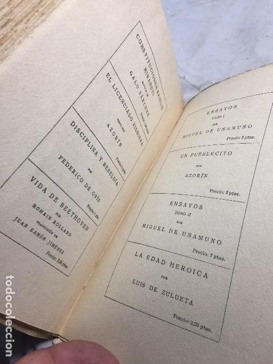 Libros antiguos: Miguel de Unamuno Ensayos tomo III residencia de estudiantes buen estado completo intonso - Foto 11 - 109505607
