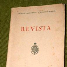 Libros antiguos: REVISTA. INSTITUTO JOSÉ CORNIDE DE ESTUDIOS CORUÑESES. NÚMERO 2. AÑO 1966. Lote 110372871