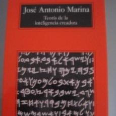 Libros antiguos: JOSÉ ANTONIO MARINA, TEORÍA DE LA INTELIGENCIA CREADORA. Lote 111984431