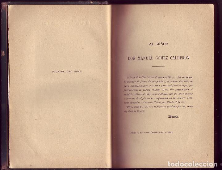 Libros antiguos: La Balija Rota. Colección de Cartas sobre Política, Historia y Literatura. Eduardo GÓMEZ SIGURA,1885 - Foto 3 - 112692311