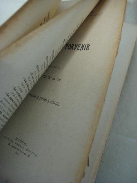 Libros antiguos: LA IRRELIGION DEL PORVENIR.Estudio Sociológico - GUYAU, M..- 1911 - Foto 2 - 39932590