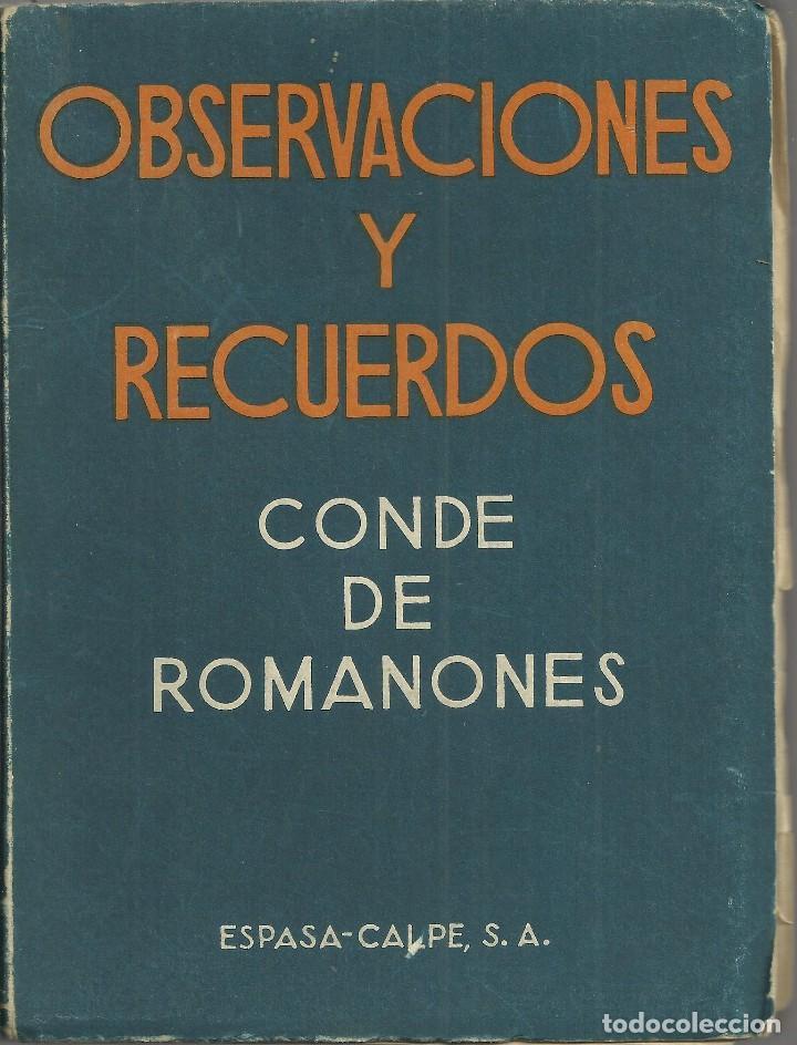 Resultado de imagen de Observaciones y recuerdos 1949