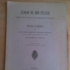 Libros antiguos: ELOGIO DE DON PELAYO. OBISPO DE OVIEDO E HISTORIADOR DE ESPAÑA. ANTONIO BLAZQUEZ Y DELGADO AGUILERA. Lote 113355815