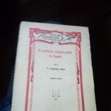 Libros antiguos: EL PROBLEMA RELIGIOSO-SOCIAL DE ESPAÑA. - PEIRÓ, FRANCISCO. 1936. Lote 114257303