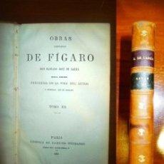 Libros antiguos: LARRA, MARIANO JOSÉ DE. OBRAS COMPLETAS DE FÍGARO. TOMO III. Lote 115077271