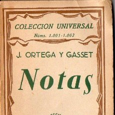 Libros antiguos: ORTEGA Y GASSET : NOTAS (ESPASA CALPE, 1928). Lote 119432787