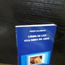 Libros antiguos: COMO SE LEE UNA OBRA DE ARTE . Lote 120556235