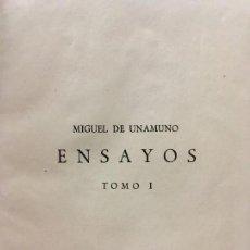 Libros antiguos: ENSAYOS - MIGUEL DE UNAMUNO. Lote 121966059