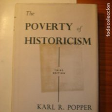 Libros antiguos: KARL POPPER THE POVERTY OF HISTORICISM TAPA DURA. Lote 122790827