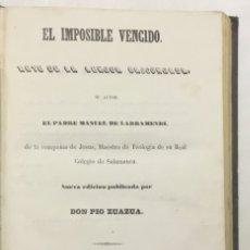Libros antiguos: EL IMPOSIBLE VENCIDO. ARTE DE LA LENGUA VASCA. - LARRAMENDI, MANUEL DE.. Lote 123206715