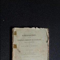 Libros antiguos: LENGUA VASCA. HISTORIA DE LA LENGUA VASCA. HISTORIA DE ESPAÑA. HUMBOLDT.. Lote 124247551
