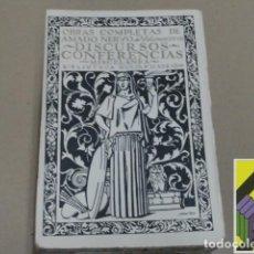 Libros antiguos: NERVO, AMADO: OBRAS COMPLETAS. VOLUMEN XXVIII: DISCURSOS Y CONFERENCIAS. Lote 126003607