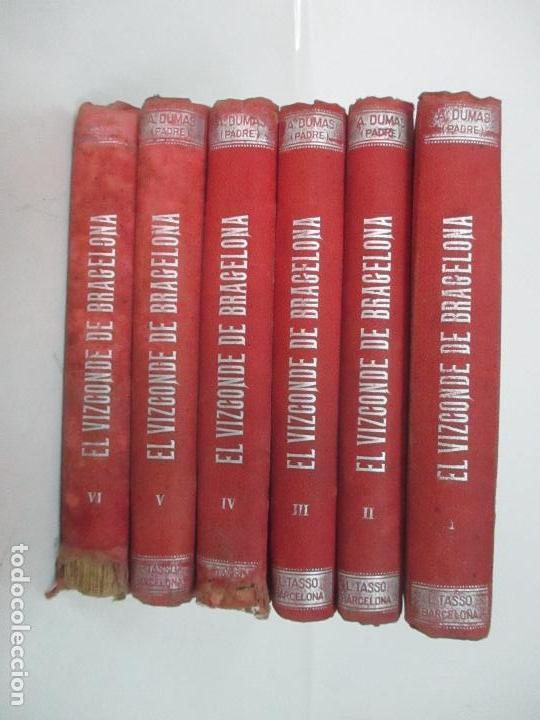 EL VIZCONDE DE BRACELONA - A. DUMAS - 6 TOMOS - COMPLETA (Libros antiguos (hasta 1936), raros y curiosos - Literatura - Ensayo)