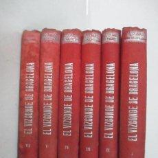 Libros antiguos: EL VIZCONDE DE BRACELONA - A. DUMAS - 6 TOMOS - COMPLETA. Lote 127436911