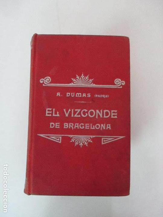 Libros antiguos: El Vizconde de Bracelona - A. Dumas - 6 Tomos - Completa - Foto 2 - 127436911
