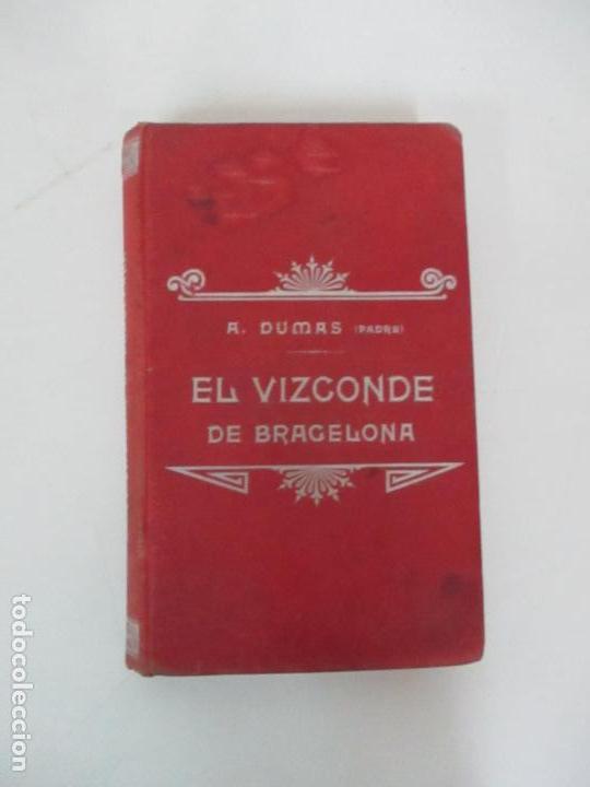 Libros antiguos: El Vizconde de Bracelona - A. Dumas - 6 Tomos - Completa - Foto 9 - 127436911