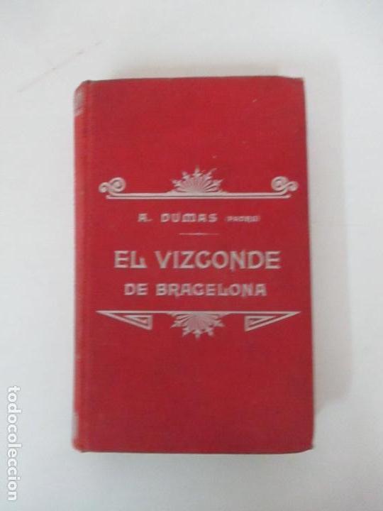 Libros antiguos: El Vizconde de Bracelona - A. Dumas - 6 Tomos - Completa - Foto 14 - 127436911
