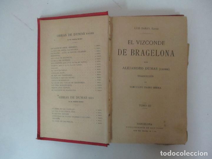 Libros antiguos: El Vizconde de Bracelona - A. Dumas - 6 Tomos - Completa - Foto 15 - 127436911