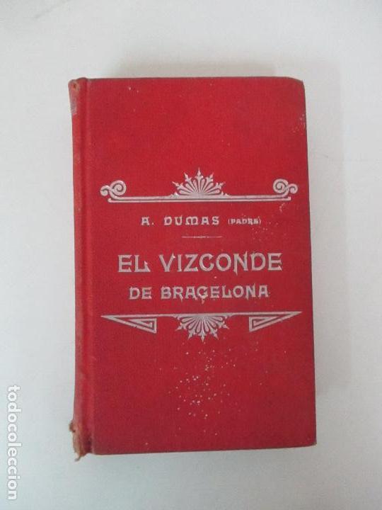 Libros antiguos: El Vizconde de Bracelona - A. Dumas - 6 Tomos - Completa - Foto 19 - 127436911