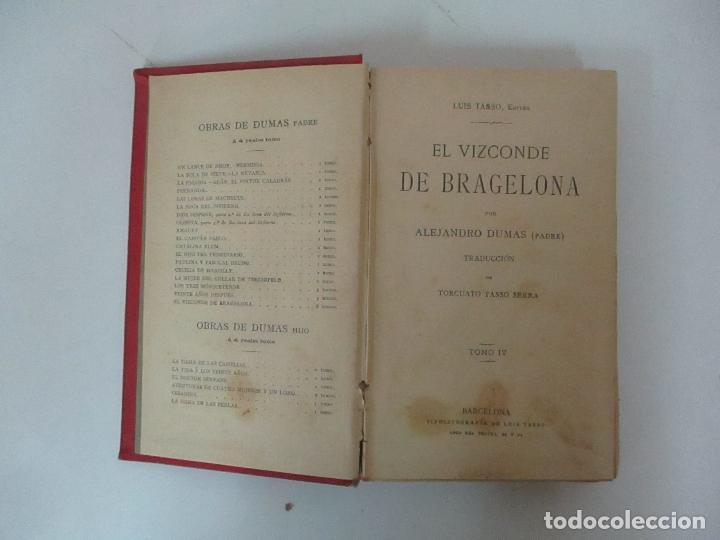 Libros antiguos: El Vizconde de Bracelona - A. Dumas - 6 Tomos - Completa - Foto 20 - 127436911